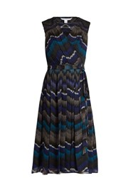 Diane Von Furstenberg Bali Dress Blue Multi