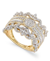 Macy's Diamond Vintage Crown Ring In 14K Gold 3 4 Ct. T.W.