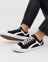 Selected Homme Canvas Trainers Black
