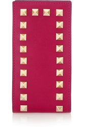 Valentino Iphone Leather Case Pink