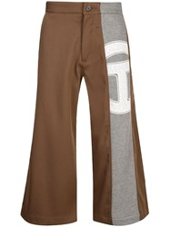Telfar Stripe Trousers Brown