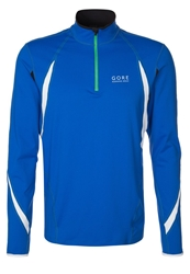 Gore Running Wear Air Zip Long Sleeved Top Brilliant Blue White