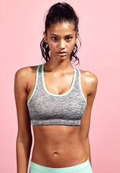 Missguided Racer Back Contrast Sports Bra Grey Grey
