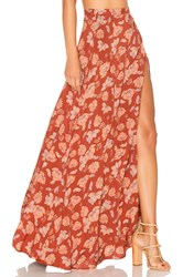 Ale By Alessandra X Revolve Brigida Maxi Skirt Burnt Orange