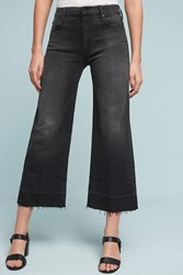 Anthropologie Mother Roller High Rise Cropped Jeans Dark Grey