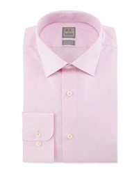 Ike Behar Solid Chambray Dress Shirt Pink