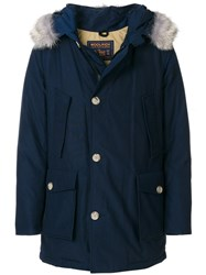 Woolrich Hooded Parka Cotton Feather Down Polyamide M Blue