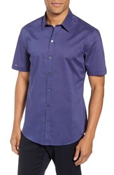 Zachary Prell Avellan Regular Fit Sport Shirt Blue