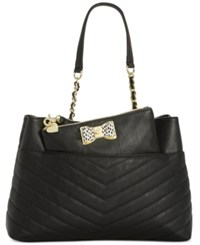 Betsey Johnson Shopper With Pouch A Macy's Exclusive Style Black