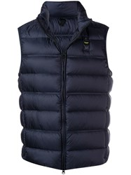 Blauer Zipped Padded Gilet Blue