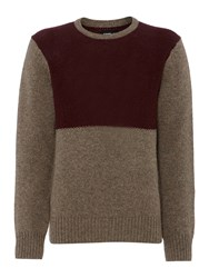 Army And Navy Rufus Panel Crew Neck Bark