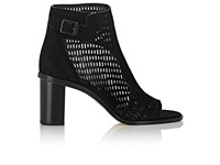 Zero Maria Cornejo Women's Fern Perforated Suede Ankle Boots Black