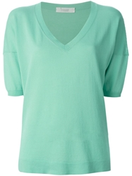 Zanone V Neck Top Blue