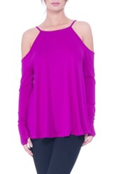 Olian Women's Lucy Strappy Cold Shoulder Maternity Top Boysenberry