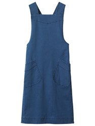 Toast Emmet Pinafore Dress French Blue