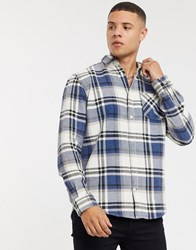 Tom Tailor Acid Wash Check Shirt In Blue