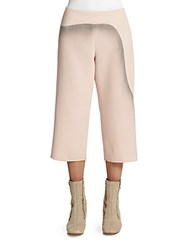 Marc Jacobs Printed Wool Cropped Pants Rose