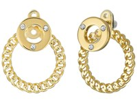 Kate Spade Infinity And Beyond Hoop Ear Jackets Clear Gold