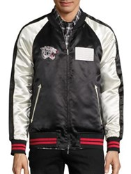 Ovadia And Sons Reversible Souvenir Bomber Jacket Black Ivory