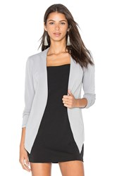 Bcbgeneration Drape Front Jacket Gray