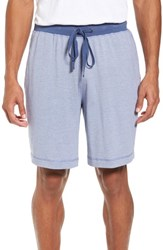 Daniel Buchler 'S Pima Cotton And Modal Lounge Shorts Blue Ivory