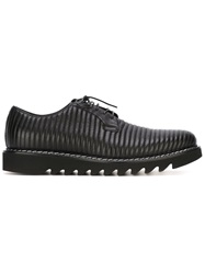Cesare Paciotti Stitched Lace Up Shoes Black