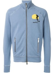 Dsquared2 Zipped Up Cardigan Blue