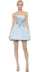 Notte By Marchesa Strapless Cocktail Dress Powder Blue