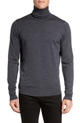 John Smedley Men's 'Richards' Easy Fit Turtleneck Wool Sweater Charcoal