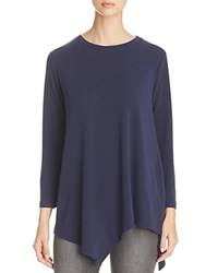 Nally And Millie Asymmetric Hem Tunic Top Ink