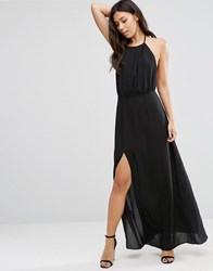 Wyldr Projection Maxi Dress With Open Back Black