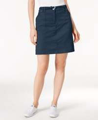 Karen Scott Belted Skort Only At Macy's Intrepid Blue