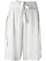 Lost And Found Rooms Knee Length Shorts White