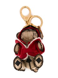 Mcm Aviator Bear Charm Nude And Neutrals