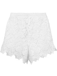 Ermanno Scervino Lace Shorts Women Cotton Polyester 44 White