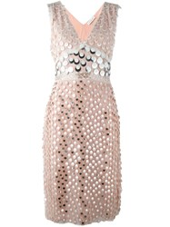 Altuzarra Embellished Dress Pink And Purple