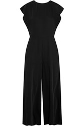 Maison Martin Margiela Mm6 Crepe De Chine Wide Leg Jumpsuit Black