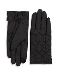 Echo Faux Fur Lined Quilted Gloves Black