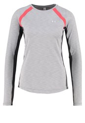 Under Armour Sweatshirt True Gray Heather Pomegranate Metallic Silver Grey