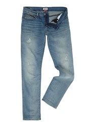 Tommy Hilfiger Men's Slim Scanton Jeans Light Blue