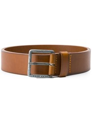 Hugo Boss Simple Logo Belt Brown