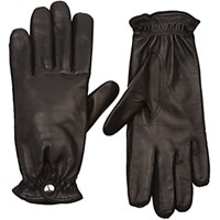 Barneys New York Women's Cashmere Lined Leather Gloves Black Blue Black Blue