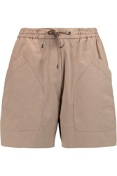 Brunello Cucinelli Cotton Twill Shorts Nude