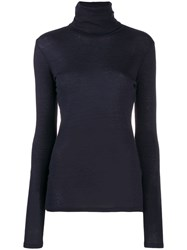 Closed Roll Neck Knit Top Blue