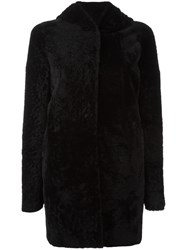 Drome Hooded Long Sleeved Coat Black