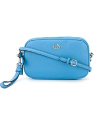 Coach Double Zip Crossbody Bag Blue