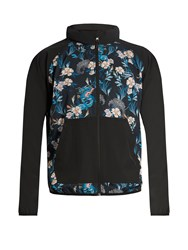 The Upside Night Runner Dragon Print Performance Jacket Blue Print