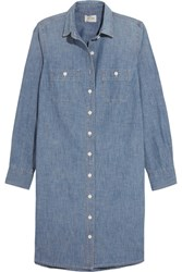 J.Crew Cotton Chambray Dress Blue