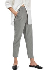 Topshop Women's Ruffle Pocket Houndstooth Peg Trousers