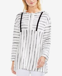 Vince Camuto Striped Hoodie Rich Black